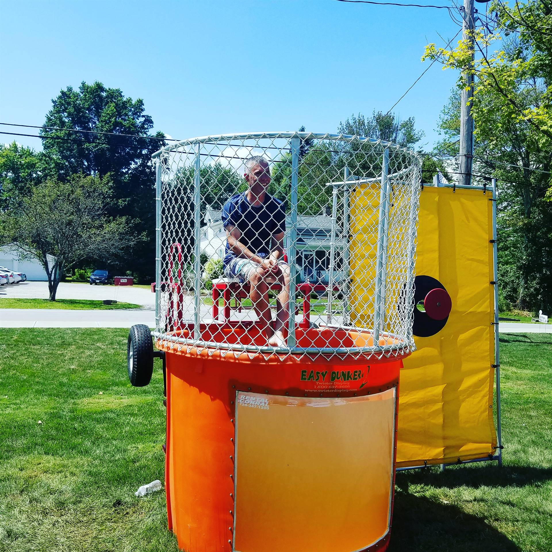 Mr. Gibson in the Dunk Tank at the Brookfield Summer Fest