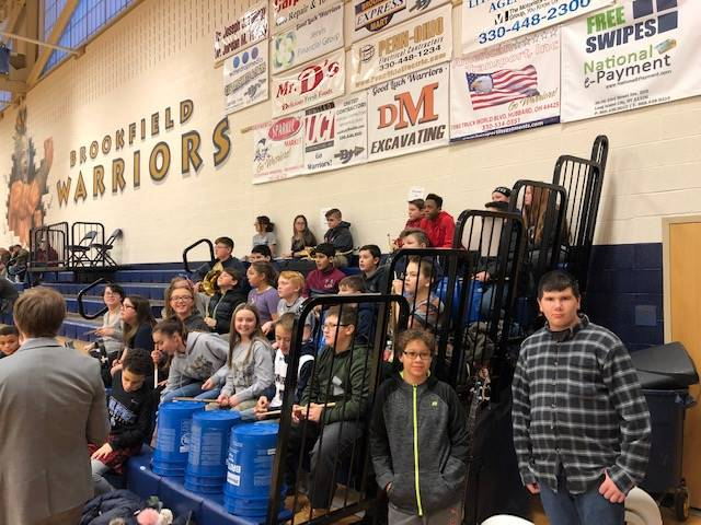 BMS Pep Band at our 7th & 8th Grade Lady Warrior Basketball Game