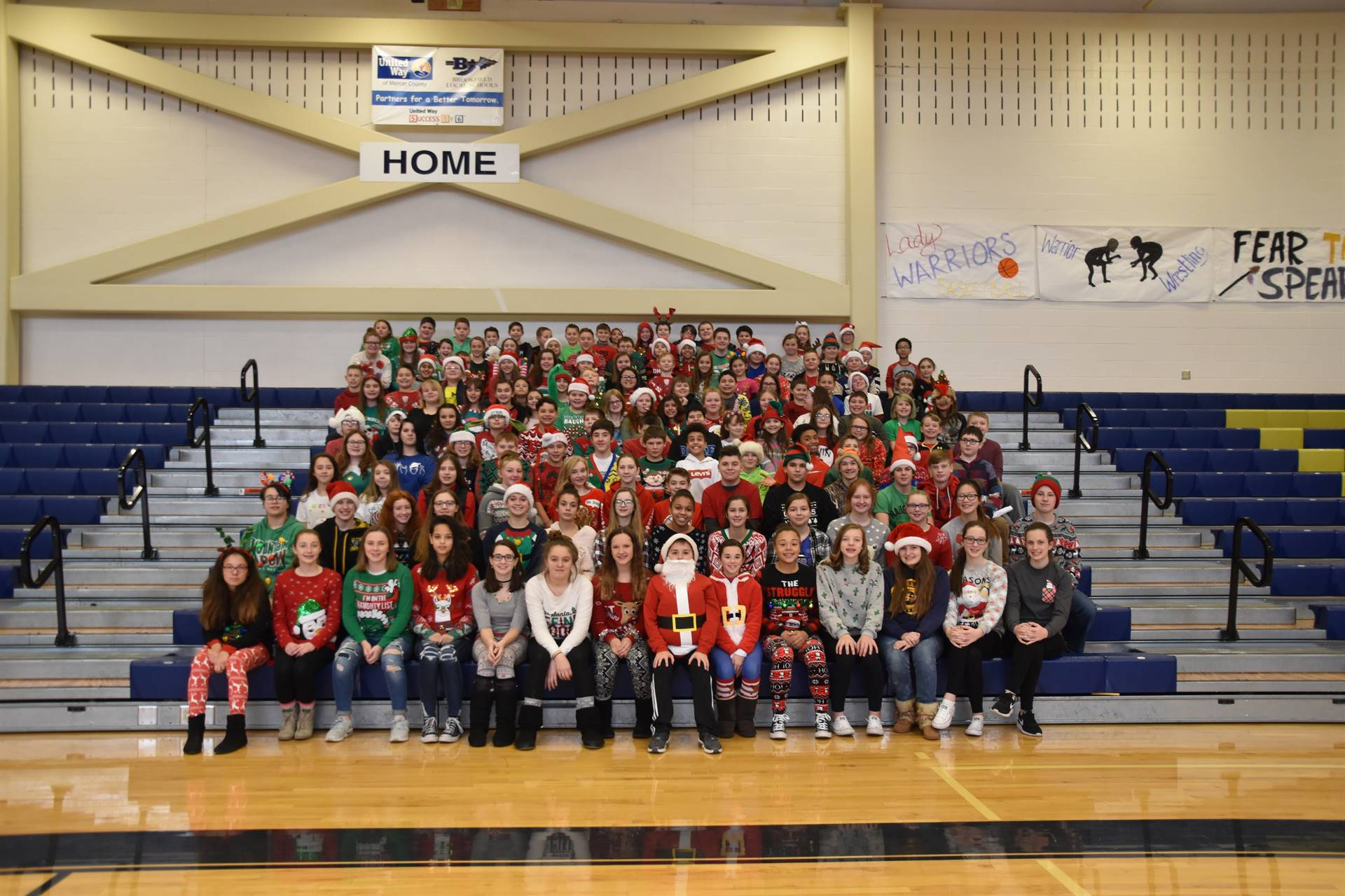 """BMS """"Ugly Christmas Sweater Day"""""""