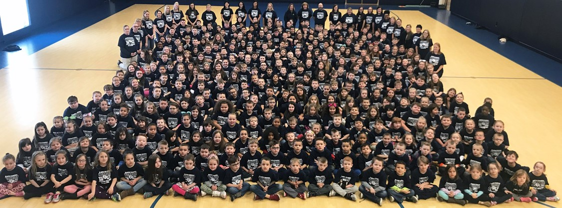 elementary students celebrating warrior wednesday
