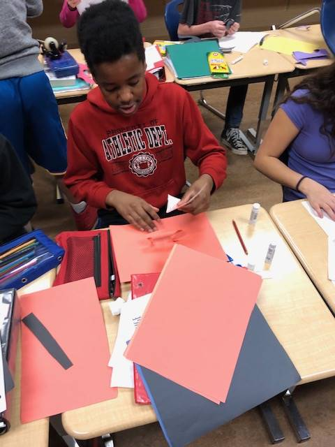 A little STEM in Mrs. Irwin's 7th Grade ELA Classes.