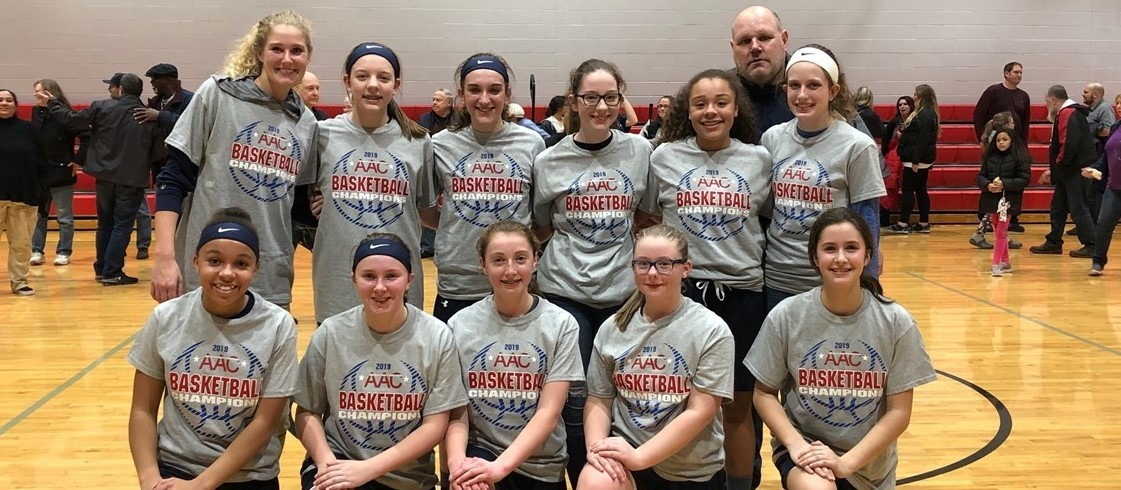 8th Grade Girls Basketball   2018-2019 AAC Champs