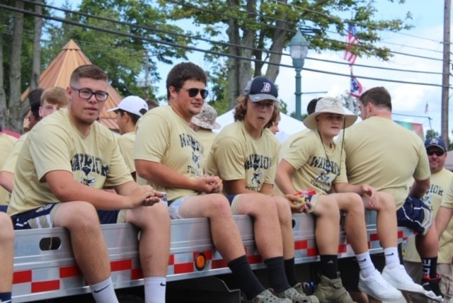 BHS Football Team in the Summer Fest Parade